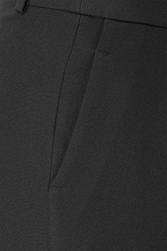 Promiss Para Recto Mujer Liso Pantalón Negro rq0pTrx