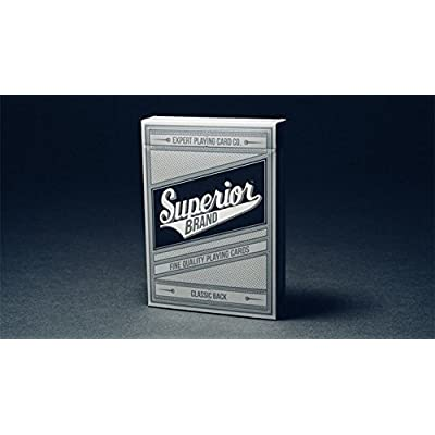 Superior (Black) Playing Cards by Expert Playing Card Co: Toys & Games