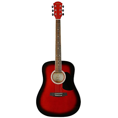 KAPOK AZ-D28RB 41'' Full Size Dreadnought Acoustic Guitar - Redburst by KAPOK