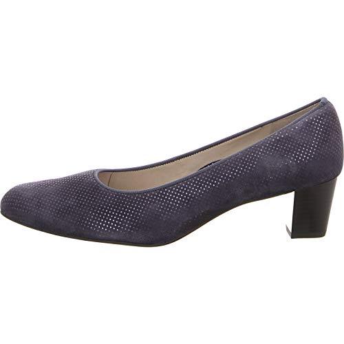 Mujer Weite Ara Vestir 4140 Zapatos Knokke 12 De Azul G Piel Para 61 Midnight rzY74xr