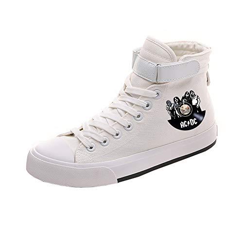 Acdc Popular Pareja Ocasionales Zapatos Transpirables Lazada White03 Alta Lona De Ayuda t1Frqt