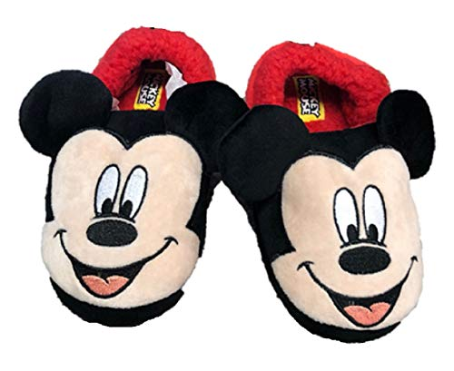 Image of Mickey Mouse Disney Boys Minnie Mouse Slide on Slippers (9/10)