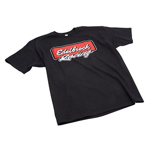 Edelbrock 2311 Edelbrock Racing T-Shirt Racing Black Medium Edelbrock Racing ()