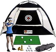 IMIFUN Golf Net with Golf Mat, 6 Golf Balls and 2 Tees
