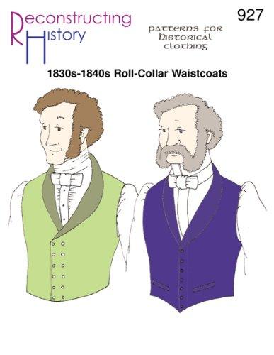 1830s-40s Roll-Collar Waistcoats Pattern