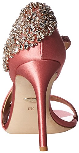 Badgley Mischka Women's Pauline Heeled Sandal, White Rose Satin