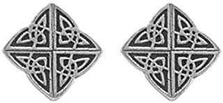 product image for DANFORTH - Celtic Knot Mini Post Earrings - Pewter - 1/2 Inch - Handcrafted - Made in USA