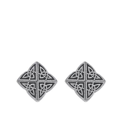 DANFORTH - Celtic Knot Mini Post Earrings - Pewter - 1/2 Inch - Handcrafted - Made in USA ()