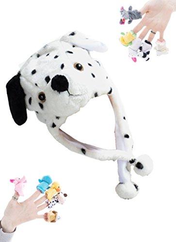 10 Cartoon Animal Finger Puppet Plush Toys - 9