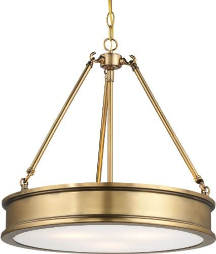 Minka Lavery Minka 4173-249 Traditional Three Light Pendant from Harbour Point Collection in Gold, Champ, Gld Leaffinish, 19.00 inches 3, Upc-747396083223