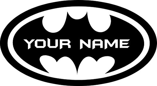 Chic Walls Removable Personalized Batman Logo Custom Name Text Wall Art Decor Decal Vinyl Sticker Mural Superhero Kids Room Nursery 15