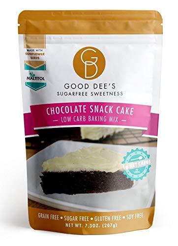 Good Dee's Chocolate Snack Cake Mix - Low Carb, Keto Friendly, Diabetic Friendly, Sugar Free, Gluten Free (Yellow Cake Mix Chocolate Chip Cookie Recipe)