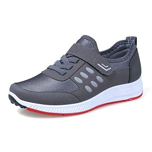 Gris Les JITIAN Marche pour Douce Femmes de Semelle Flats Confortables Non Légères glissants Espadrilles Chaussures qfwwxXgF6