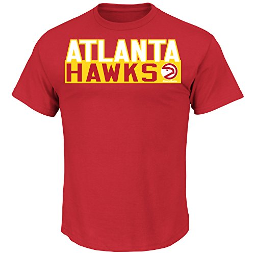 NBA Big & Tall Hardwood Classic Name and# Tee, 2X, Brite Red ()