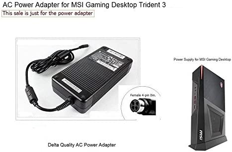 4 Holes Plug 230W AC Adapter Power Supply for MSI Gaming Desktop Trident 3 VR7RC-025US