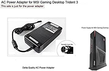 Digipartspower 4 Holes Plug AC Power Adapter Power Supply for MSI Gaming Desktop Trident 3 VR7RC-025US
