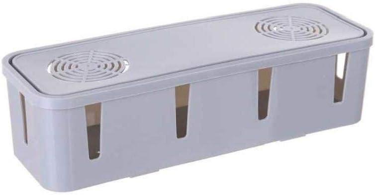fedsjuihyg 1 PCS alimentaci/ón de la Caja de Cable para los enchufes m/últiples Color al Azar del Escritorio y de TV y de gesti/ón de Cables de Ordenador Ocultar Cables por Todo Electric /&