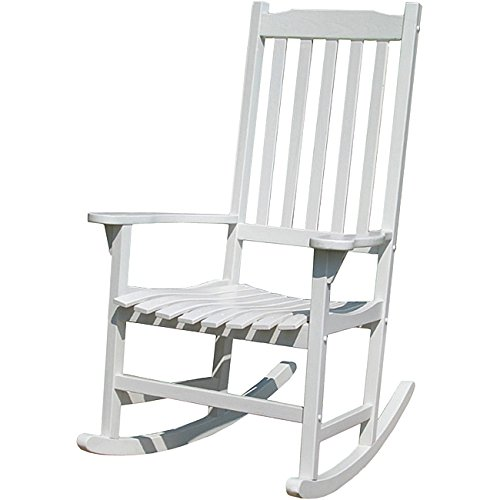 Merry Garden Painted Traditional Rocking Chair, White