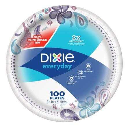 Dixie Everyday Paper Plates, 8.5 Inches (100 plates) by Dixie