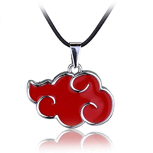 DLNCTD Best Anime Cosplay Naruto Akatsuki Organization Red Cloud Sign Metal Pendant Necklace Women Men Necklace