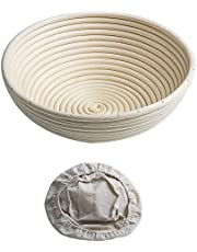 1Pcs Banneton Proofing Basket Round Brotform for Bread Dough Rising Rattan Bowl Free Liner