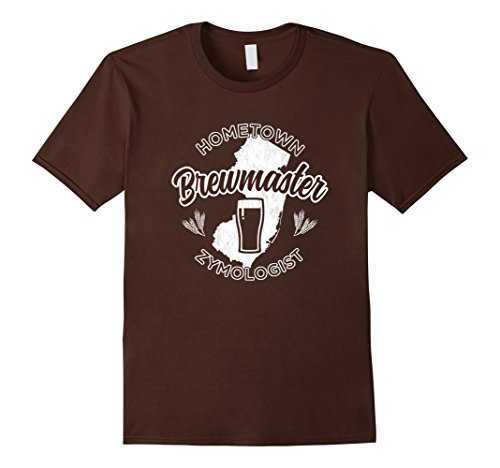 Mens New Jersey Home Brewing Brewmaster Tshirt  2XL Brown