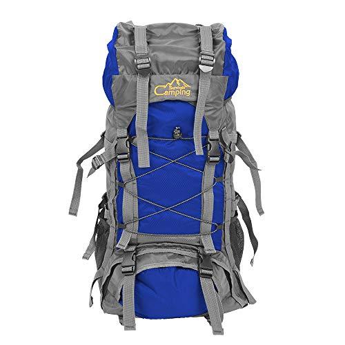 Vanhon Waterproof Travel Large Capacity Backpack Free Knight SA008 60L Outdoor Waterproof Hiking Camping Backpack (Blue)
