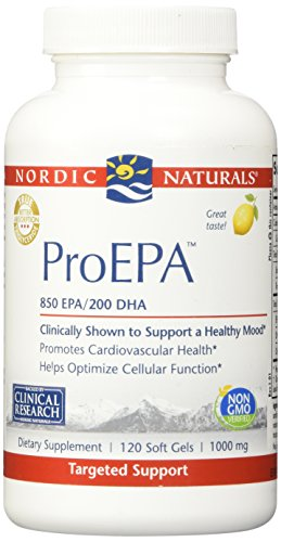 Nordic Naturals Pro - ProEPA, Promotes Cardiovascular Health, Supports Gastrointestinal Health and a Healthy Mood - Lemon Flavored 120 Soft Gels by Nordic Naturals (Image #1)'