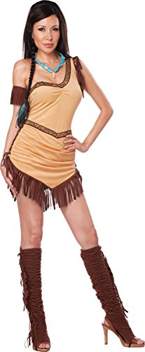 California Costumes Women's Native American Beauty Adult, Tan/Brown, -