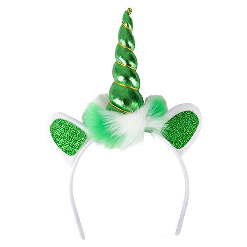 ST. Patrick's Day Funny Unicorn NAWALT Horn Headband Sexy Irish Green -