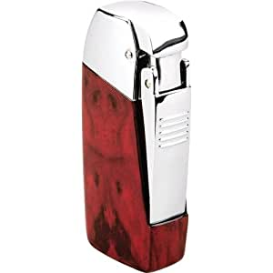 Vector Vulcan Triple Cigar Torch with Punch Mahogany Marble Lacquer
