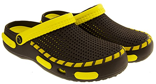 Coolers Mens Beach Clog Sandals Yellow 11 D(M) US by Coolers (Image #4)