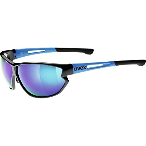 Uvex Sportstyle 810 Mirrored Sunglasses Black Blue, One Size - - Sunglasses Uvex