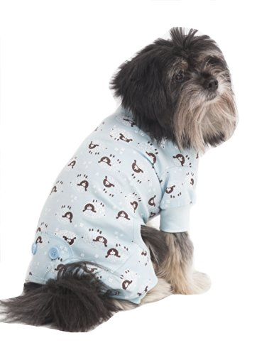 Fashion Pet Lamb Print Pet PJ's, X-Small, Blue (Lamb Dog Costume)