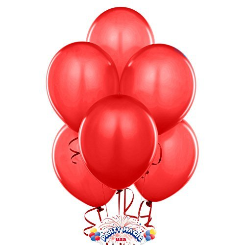 Ruby Red Latex Balloons Dozen