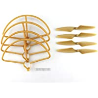 New Hubsan H501S H501C RC Quadcopter Sapre Parts Gold CW/CCW Propellers & Protection Cover Set By KTOY