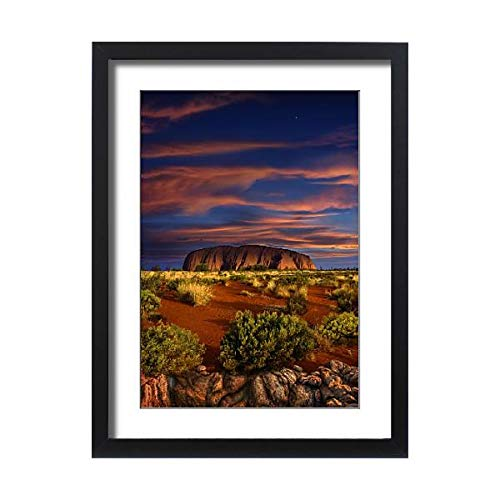 - Media Storehouse Framed 24x18 Print of View at Ayers Rock at Sunset, Northern Territory, Australia (10641668)