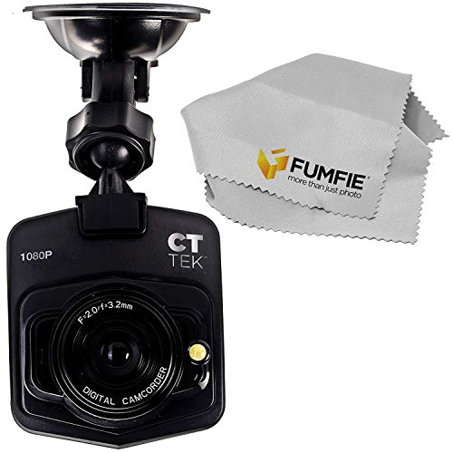 CTTEK Car Dash Cam HD Portable DVR with 2.4 TFT LCD Screen with Cleaning Cloth ()