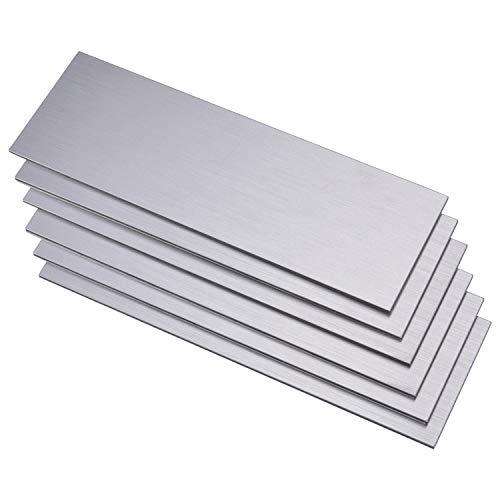 LONGKING LK 15pcs Premium Self-Adhesive Metal Tiles - Peel and Stick Backsplash Tiles for Kitchen, 12