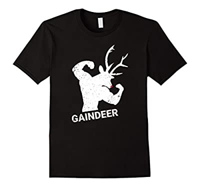 Funny Gaindeer Shirt Weightlifting Bodybuilding Gag Gift