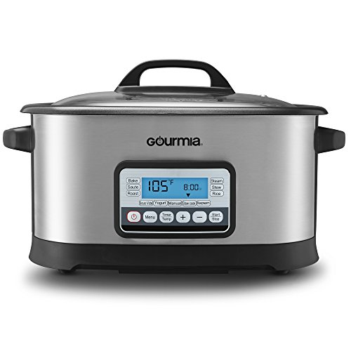 Gourmia GMC650 11 in 1 Sous Vide & Multi Cooker - Stainless Steel with LCD Display Multiple Cooking Options, Bonus Accessories & Free Recipe Book (Re 11 Inch Plate)