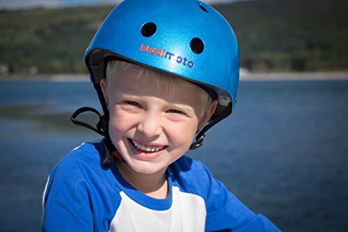 Kiddimoto Helmet, Metallic Blue, Small (48-53 cm) by Kiddimoto (Image #7)