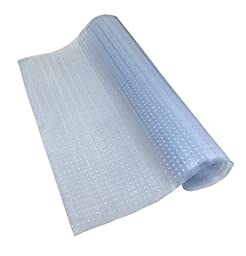Sweet Home Stores Clear Plastic Runner Rug Carpet Protector Mat Ribbed Multi Grip High-spike (26x6)