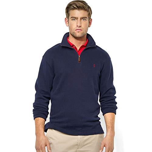 Polo Ralph Lauren Men's French-Rib Mockneck Pullover (Navy, Large)