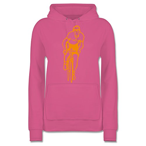 Damen - Radsport Hoodie Shirtracer Rosa