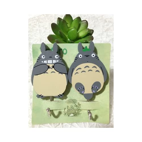 Cartoon My Neighbor Totoro Magic Hook Hanger Wall Hook Towel Holder Utility  Creative Cartoon Decorative Hooks