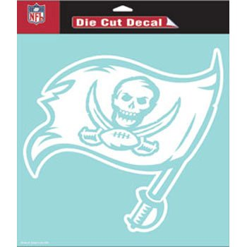 """Wincraft NFL Tampa Bay Buccaneers WCR25658014 Perfect Cut Decals, 8"""" x 8"""""""