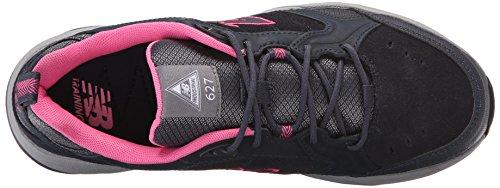 Zapato De Trabajo De Entrenamiento Con Puntera De Acero Wid627v1 New Balance Para Mujer, Gris Oscuro / Rosa