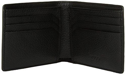 Men's Credit Boss Leather by Pocket Twin Hugo 6 Black Wallet HUGO Card qtSTAx