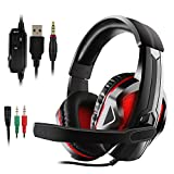 JAMSWALL LED Stereo Gaming Headset, 3.5mm Gaming